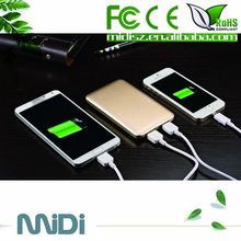 electronic dual usb famous brand mobile power bank 10000mah for smart phone wholesale