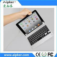 hot selling Aluminum silm mini wireless keyboard for ipad mini