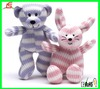 LE C1554 knitted bear and cat toy organic cotton animal toy