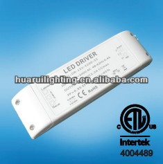 33w 12V 2200mA Triac constant voltage dimmable or no dimmable led driver with ETL square case, high quality and factory price