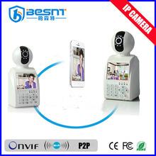 "BESNT P2P babyphone video WIFI IP camera, wireless 3.5"" lcd ip camera BS-IPS01"
