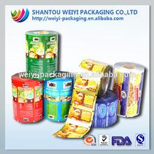 Custom design plastic film sequin plastic film for snack