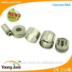 Factory price adjustable airflow ss/gold/black big vapor rrda vape jam