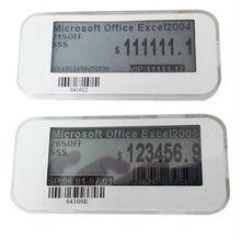ESL wireless digital supermarket price tag , monochrome lcd display electronic shelf label