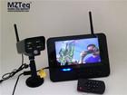 7 inch LCD 4 quad home surveillance camera system with 4CH Digital Wireless Cameras