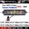 LIFETIME warranty single row super slim 3d reflector led light bar