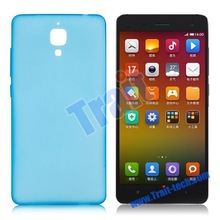 Famous brand HOCO Light Series Ultra Slim+Frosted Design Soft TPU Case for Xiaomi 4 MI4 (Blue)