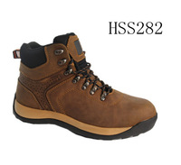 top quality crazy horse leather 2014 hot selling safety sport shoes/safety trainers
