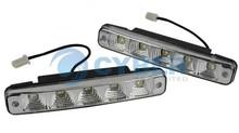 New 2x 5 Universal Car Waterproof White 12V 3.75W Led Daytime Running Light Lamp