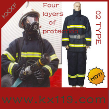 High quality Reflective Tape flame proof Forest\/wildland fire fighting uniform