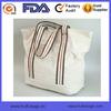 2015 Vintage Beige Canvas Tote Shoulder Bag Heavy Canvas Customize Boat Bag Factory