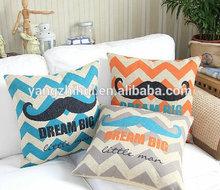 Moustaches Beard DREAM little Zig Zag big chevron printed Cushion