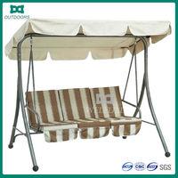 Outdoor garden leisure 3 seats swing hammock chair