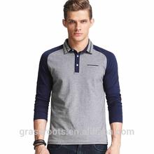 Wholesale blank men raglan polo t-shirt manufacturer(Aidydanva)