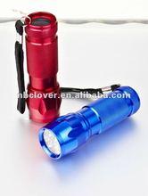 AAA battery 9 led aluminum led torch