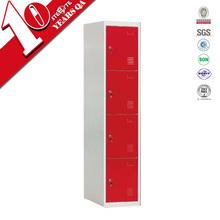 Lightweight upright red metal storage cabinet/living room furniture decorative storage locker cabinet
