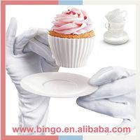 4 Tea Cupcakes Bake n Serve silicone cupcake mold silicone teacup cupcake molds