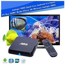 hotel iptv solution with latest Amlogic S802 M8 android tv box ott set top box wifi 2.4G/5.0G XBMC 4kx2k