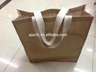 Customized Logo Jute bagdesigner shopping bags/ design fabric/business bag