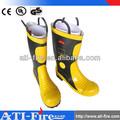 Alto desempenho durável de combate a incêndios borracha botas de segurança