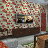 Self adhesive decorative red rose flowers modern vinyl wallpaper