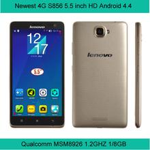 lenovo S856 FDD-LTE Android 4.4 4G smart Phone 5.5 inch Quad Core Snapdragon 400 1GB RAM 8GB ROM 8MP Dual Sim