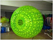 2014 new arrived fluorescent green mini zorb ball