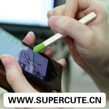 Guangzhou 2014 hot wholesale match shaped promotional stylus pen