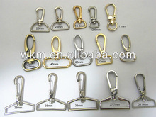 Hot selling Metal snap hook For Bags, cord ends with lobster snap hook width of bag accessories