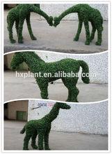 Large nice looking artificial green sculpture imitation animal