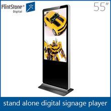 FlintStone Iphone like totem display indoor 55 Inch Floor Standing Lcd Monitor Media Player For Advertising