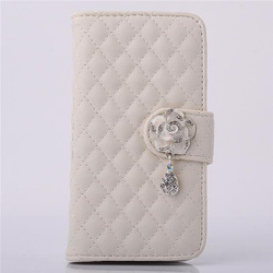 Bling Crystal Diamond Leather cell phone cover for iphone 6