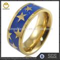 grossista novo design de moda anel colorido da moda jóias