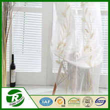 High quality 100% polyester transparent voile fabric for bathroom window curtain drapes