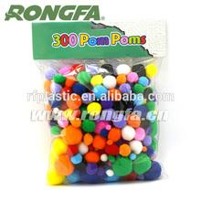bright colored pom poms,assorted colors pom poms,craft Pompoms