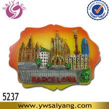 Souvenir Spain Barcelona 3d resin fridge magnet Famous Tourist souvenirs Promotional crafts Gift wholesale