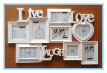 combination wall photo frame, plastic photo frame,cheap plastic photo frame