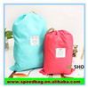 Nylon pull string bag small drawing bag draw string bag