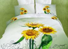 3D flat screen 6pcs king queen full twin size comfortable bedding set
