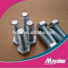 DIN961 Class10.9 Hex Head Half Thread bolt zinc