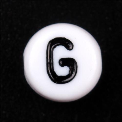 2014 sıcak satış 4*7mm alfabe harfinden boncuk plastik düz yuvarlak mektup boncuk kolye
