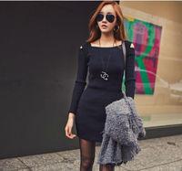Women Off Shoulder Sexy Sweater Dress Long Sleeve Winter Autumn Night Club Dress JH-DR-895