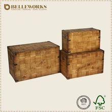 Antique wooden chest, storage trunk, antique trunk