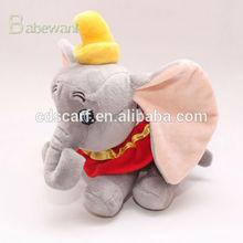cheap elephant Dumbo plush toy with big eyes long nose