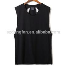Wholesale Cheap Round Collar Black color cotton vest for men