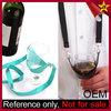 Custom logo printed necklace lanyard hanging wine glass holder