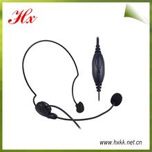 back wearing hanger type radio transceiver headset
