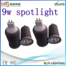 New gu10 spot light,led spotlights 9w,gu10 24v led spot light,12v dimmable mr16 gu5.3 led bulb