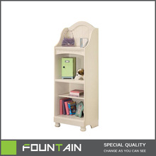 white wood bookcase for kids,shelf for toy collection