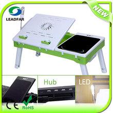 LY-NBT69B Laptop Table Bed Computer Desk With USB Light,Cooling Fan,4pcs USB Hub Ports (2.0)